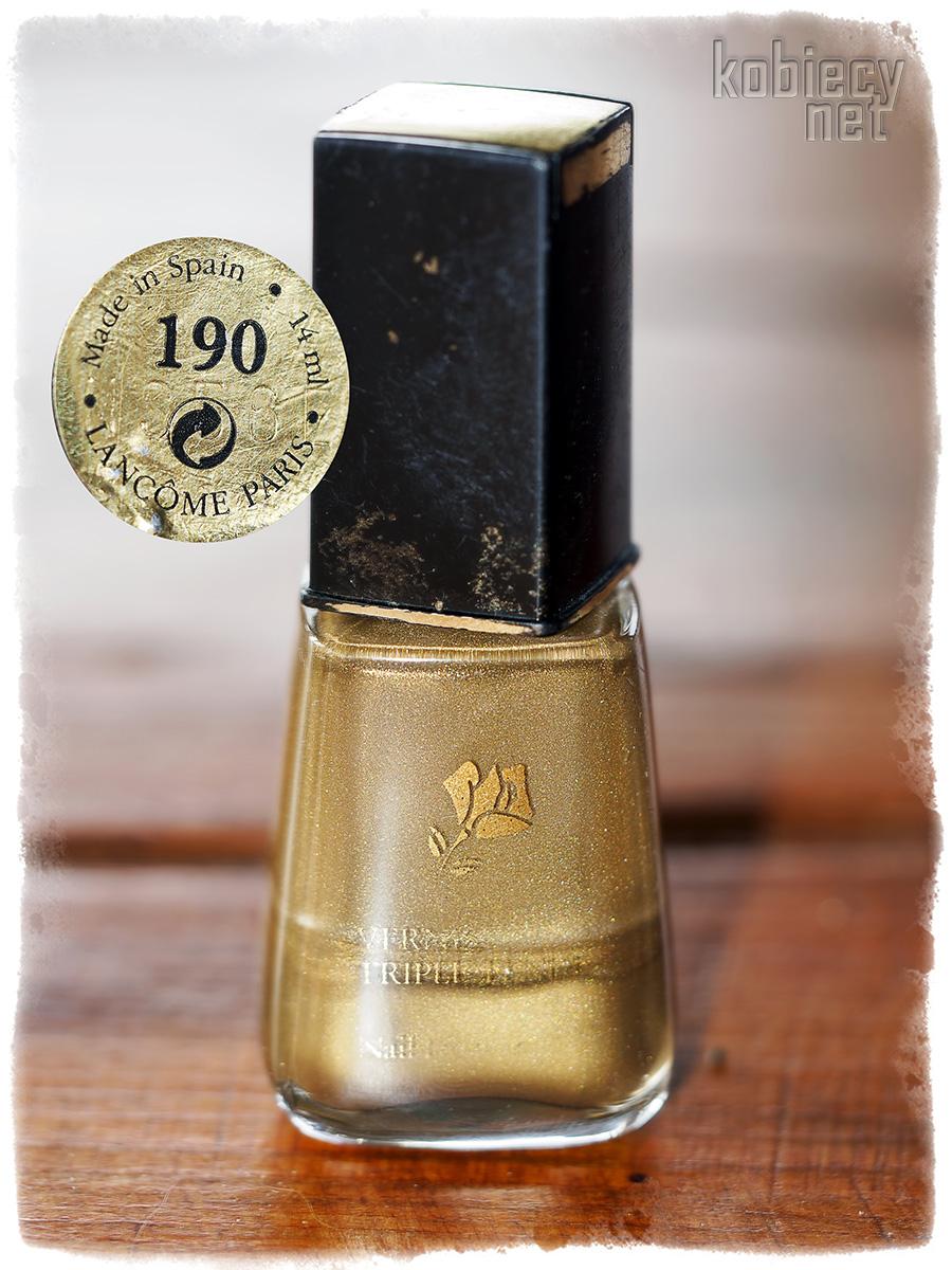 najstarszy lakier do paznokci w mojej kolekcji - Lancome 190