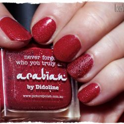 Picture Polish - arabian i Powder Polish - Beginning To Look A Lot Like Xmas manicure